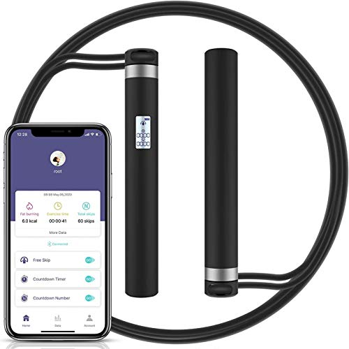 morpilot Springseil Speed Rope mit Intelligente Bluetooth, Multifun Springseil Erwachsene USB Wiederaufladbar, springseil Fitness mit Zählfunktion Für Training, Fitness Erwachsene Damen Herren Kinder