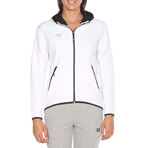 Arena W Gym Hooded F/Z Jacket, Giacca con Cappuccio Donna, Bianco (White), XL