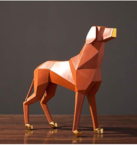 LOSAYM Estatua De La Escultura Estatuillas Decoracion Escultura De Perro De Origami Decoración del Hogar Sala De Estar Adornos De Gabinete De TV