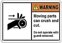 装飾ポスターサインインチ、警告可動部品がクラッシュし、ガードの装飾で動作することができます壁の芸術家屋内屋外ヤードサインのノベルティアートサイン
