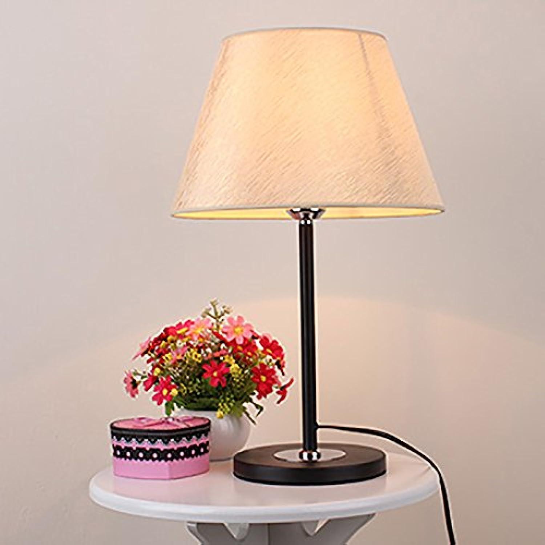 TOYM UK Mode schlafzimmer nachttischlampe augenschutz lernarbeit licht mode einfarbig tuch lampe (Farbe   schwarz base)
