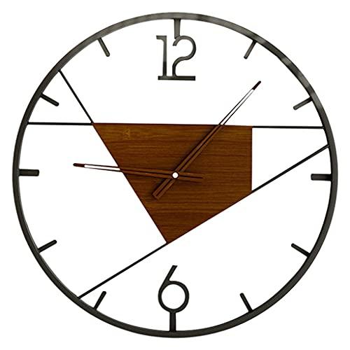 Baoblaze Reloj Colgante de Metal de Estilo Antiguo Decoración de Arte Minimalista Cara Redonda Reloj de Pared silencioso de Hierro nórdico Creativo para Porche - Estilo 3