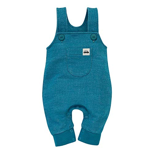 Pinokio -Little Car - Pantalones de Peto Bebé Niños Niñas Baby Mamelucos Unisex Mono 100% Algodón Azul 56 62 68 74 80 cm (Azul, 74)