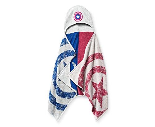 Jay Franco Marvel Captain America Hooded Bath Towel - Great for Bath, Beach and Pool!
