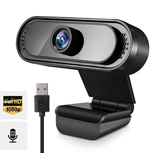 Cámara Web con micrófono, Webcam 1080P para PC Cámara Web USB Plug and Play para videollamadas, Estudios, Clases en línea, conferencias, grabaciones, Juegos