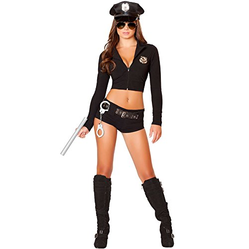 SS Queen Women Police Costume Officer Uniform Deputy Halloween Masquerade (set1)