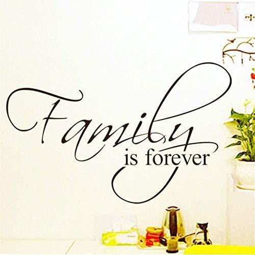 Papel pintado de la familia es para siempre decoración del hogar Cita creativa 8068 Adesivo De Parede pegatinas de pared de vinilo removibles de la moda mural