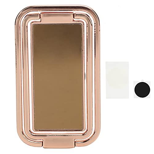 Soporte para anillo de teléfono Soporte para dedo, agarre de mano trasero plegable de metal ultrafino con rotación 360 para escritorio de oficina, mesita de noche, mostrador de cocina y más(Oro rosa)