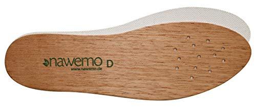 Nawemo Zedernholzsohlen Damen, antibakterielle Zedernholz Einlegesohlen gegen Schweißfüße, Fußgeruch, Fußpilz und Nagelpilz, dünne Einlegesohlen braun, Größe 35EU
