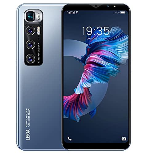 Economico e fondamentale 3G cellulare, 5.5-pollici display IPS, 4GB ROM Android smartphone, doppia carta e doppia fotocamera, supporto: Bluetooth, GPS, WiFi, ecc.(M10-Blue)