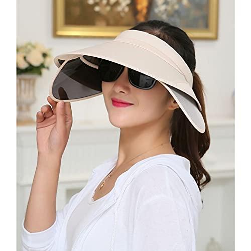 Dingyi Mujer Verano Sombrero de Copa vaco Visera retrctil Protector Solar Plegable Sombrero de Playa al Aire Libre proteccin UV Sombrero para el Sol Damas Casual Running Deportes al Aire Libre