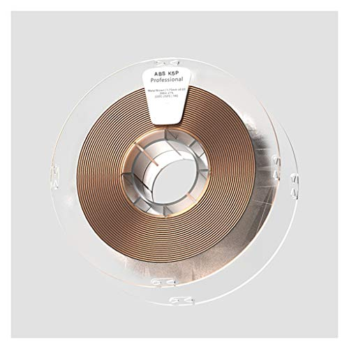 Hello ABS Filament ABS K5P Smooth Metal Printing Filament, Realistic Metallic Luster,ABS Filament 1kg,for 3D Printers,Wire Diameter 1.75mm/2.85mm/3.0mm Optional (Color : Brown, Size : 3.0mm)