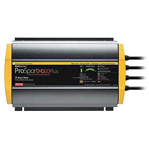Photo of Yellow ProMariner ProSportHD 20 3-Bank Marine Charger