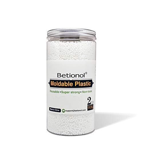 Betionol Plástico moldeable para esculpir modelos, perlas termoplásticas de arcilla de modelado blanca de 906 g, no para niños menores de 6 años