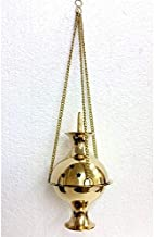 Brass Charcoal Holder - Hanging Censer Large - Ceremony Smudging Ritual