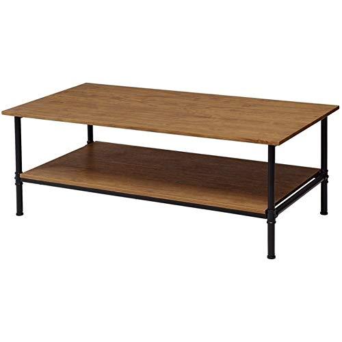 WFHhsxfh rechthoek metalen frame Cocktail salontafel met opslag plank twee lagen MDF Top Balance verstelbare pads meubilair meubels