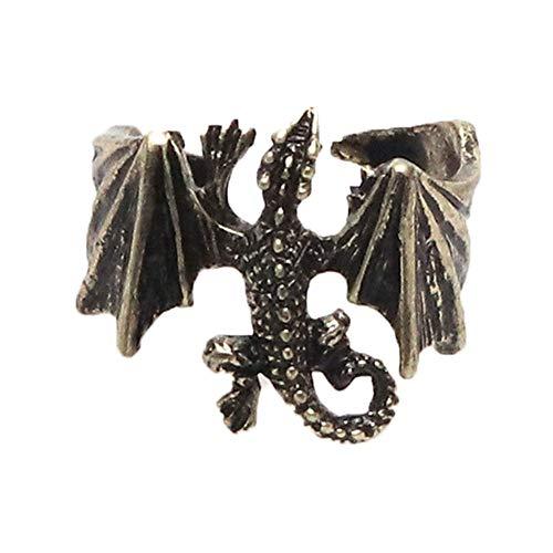 Zonfer Anillos Punky del Dragón, Pterosaurio Anillo Ajustable, Anillos De Personalidad para La Mujer del Hombre