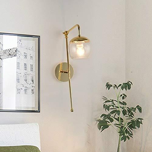 Spotlight Wall G4 LED Slaapkamer Nachtlampjes glazen wand Light White Light LED5W (Black Glass Cover) Wall Spotlight (Color : Clear Glass Cover)