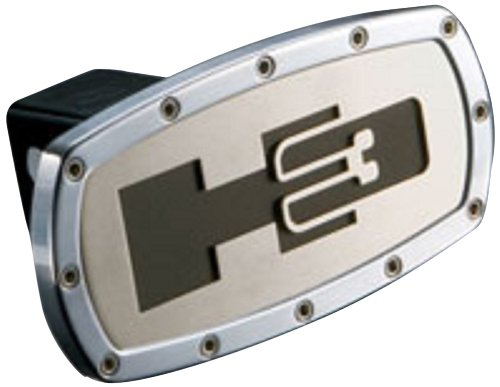 All Sales 1001 H3 Trailer Hitch Cover Silver, 2 inch