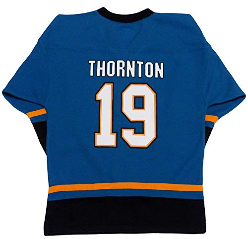 Joe Thornton San Jose Sharks Teal Youth Home Fashion Jersey (Large 12/14)