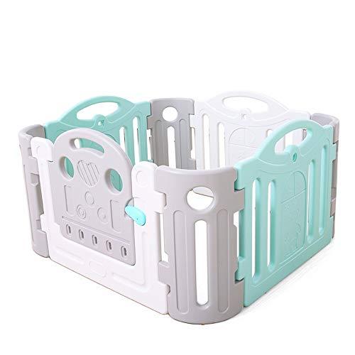 Barrières de lit LHA Castle Baby and Playpen - 8 Panneaux de Couleur - avec volet actif-120 x 120 x 68 cm