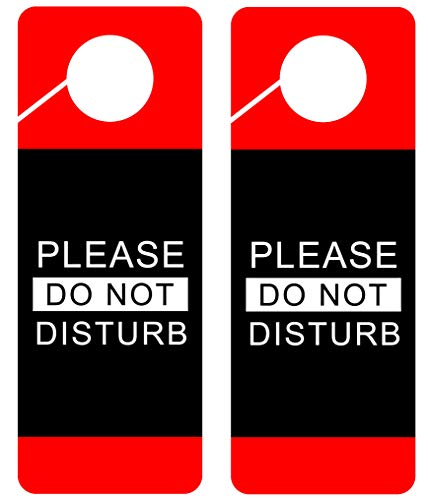 Do Not Disturb Door Hanger Sign, 2 Pack, Double Sided, Ideal for Using in Any Places Like Offices, Clinics, Law Firms, Hotels or During Therapy, Spa Treatment, Counseling Sessions