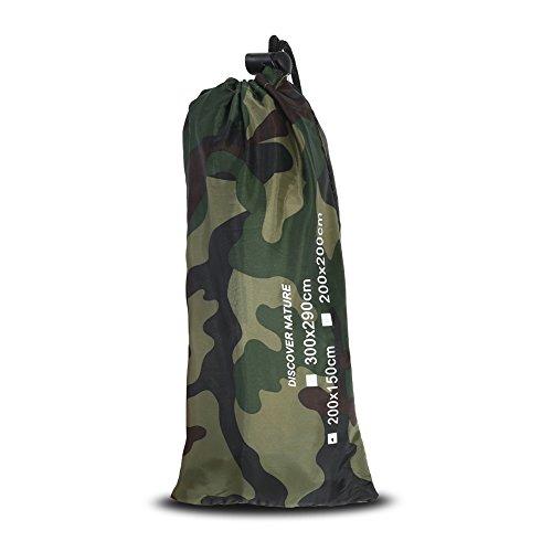 Lona Impermeable de la Tienda del Refugio Que acampa, Camuflaje al Aire Libre portátil Ligero Ligero Impermeable Mat RainTent(2 * 1.5m)