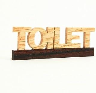 TOILET RN1 トイレット 黒 木製 ドアプレート ドアを開けると森の香がする! ウッドサイン「新・森の生活」シリーズ RN1