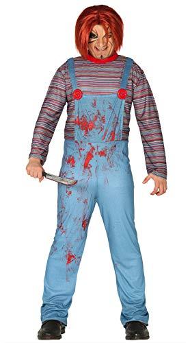 FIESTAS GUIRCA Disfraz de muñeca asesina para Hombre de Cosplay de Terror de Mascarada