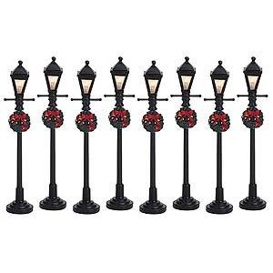 Lemax Christmas Village, Gas Lantern Street Lamps x8