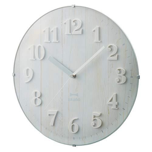 BRUNO ブルーノ 電波時計 掛け時計 ビンテージウッドクロック BCR008 ホワイト