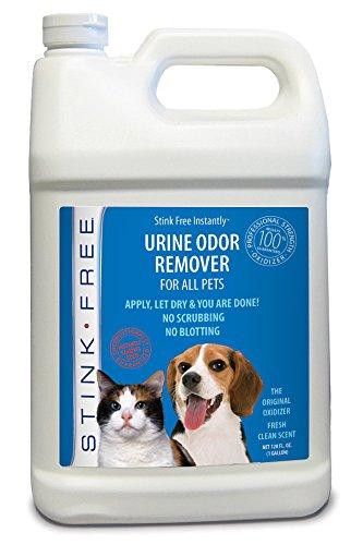 Stink Free Pet Urine Odor Remover & Eliminator for Cat & Dog Urine, Oxidizer Based Pee Cleaner Destroyer for Carpets, Rugs, Mattress, etc. 128 Oz (1 Gallon)