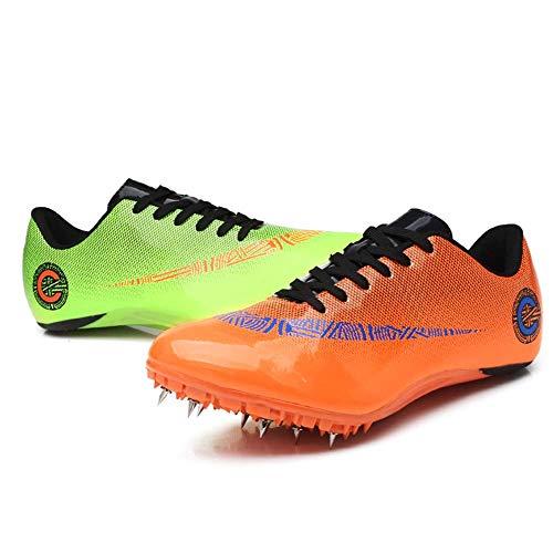 Spikes Zapatos Atletismo Zapatos Hombre De Atletismo Ligero Seguro De Usar Clavos Zapatillas De Deporte Masculino En Forma Hombres Sra Al Aire Libre Corriendo Competencia,A,44