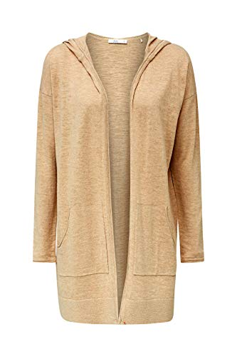 edc by ESPRIT Damen 040CC1I308 Strickjacke, 294/LIGHT BEIGE 5, L