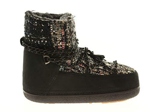 INUIKII 20850 Lady Low Black Damen Schuhe Boots Schwarz Leder, Größe:35