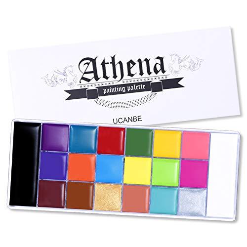 20 colores Pintura corporal facial Aceite seguro para niños Pintura de tatuajes...