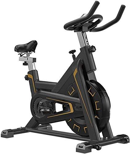WGFGXQ Bicicleta giratoria Volante Completamente Envuelto con Alto Ciclismo en Interiores Bicicleta estática silenciosa Equipo de Fitness con Soporte para computadora con Tableta Máquina de ejercic