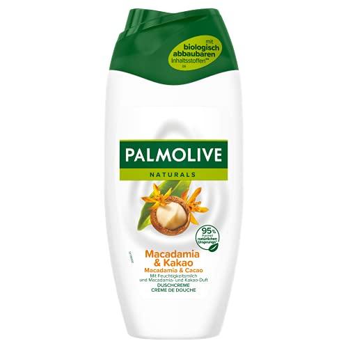 Palmolive Duschgel Naturals Macadamia & Kakao, 6 x 250ml - Cremedusche mit Feuchtigkeitsmilch und Macadamia- & Kakao-Duft