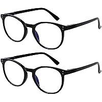 2-Pack Kerecsen Computer Blue Light Blocking Reading Glasses (1.5 x Magnification)