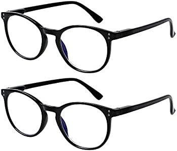 2-Pack Computer Blue Light Blocking Reading Glasses (1.5 x Magnification)