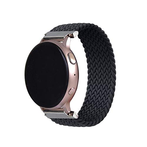 JWWLLT 2021,Latest 20 22mm Braided Solo Loop is suitable for samsung galaxy watch 46mm 42mm, For huawei watch GT2 Strap gear s3 amazfit bip (Color : Blue, Size : S22mm)