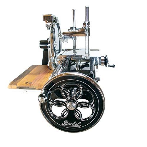 Special-Edition Berkel Volano P15 Aufschnittmaschine mit Schwungrad | schwarz | + Fassholzbrett der Palatina Werkstatt | sofort lieferbar