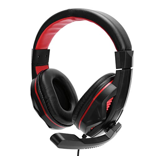Cosiki Auriculares Experiencia de Uso cómodo Auriculares de Juego Transpirables Motor de Audio Dual Ligero para Jugadores Entretenimiento Oficina Hogar