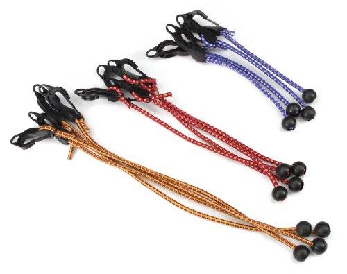 TEKTON 6263 Adjustable Ball Anchor/Hook Tarp Bungee Cord, 12-Piece