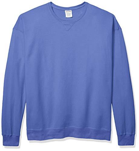 Hanes Men's Comfortwash Garment Dyed Sweatshirt, deep Forte Blue, Large