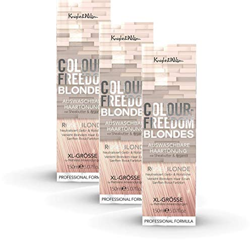 Colour-Freedom Blondes Rose Blonde XL 150 ml 3er Sparpack 2+1 auswaschbare Haartönung | 3x 150ml