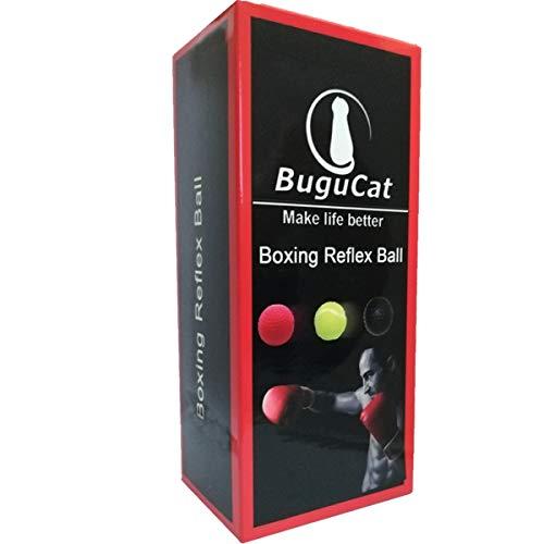 BuguCat Pelota Boxeo, Fight Ball Reflex en Cadena con Diadema para Fight MMA Training...