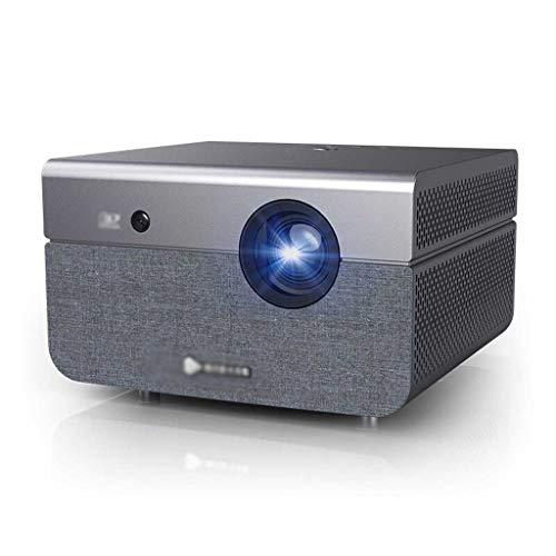 Proyector, proyector de vídeo con 4500lumen Nativo 3840 * 2160P Electronic 4k ± 45 ° Corrección Trapezoidal LED Ayuda del proyector LCD proyector Compatible Smartphone TV Box