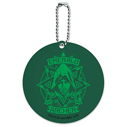 Arrow TV Series Emerald Archer Round Luggage ID Tag Card Suitcase Carry-On