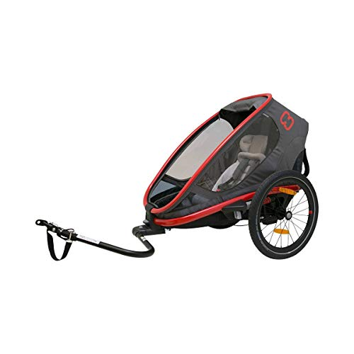 HAMAX Outback One Bike Trailer red/Charcoal 2020 Fahrradanhänger